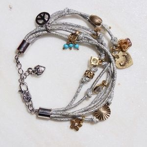 Juicy Couture Jewelry - Juicy Couture Metallic Charm Bracelet (NWT)